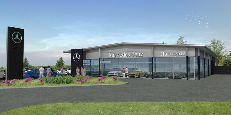 Artist's impression of JCT600's Mercedes-Benz Harrogate centre 2016