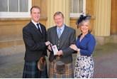 Son Christopher Clark John Clark OBE and his daughter Victoria
