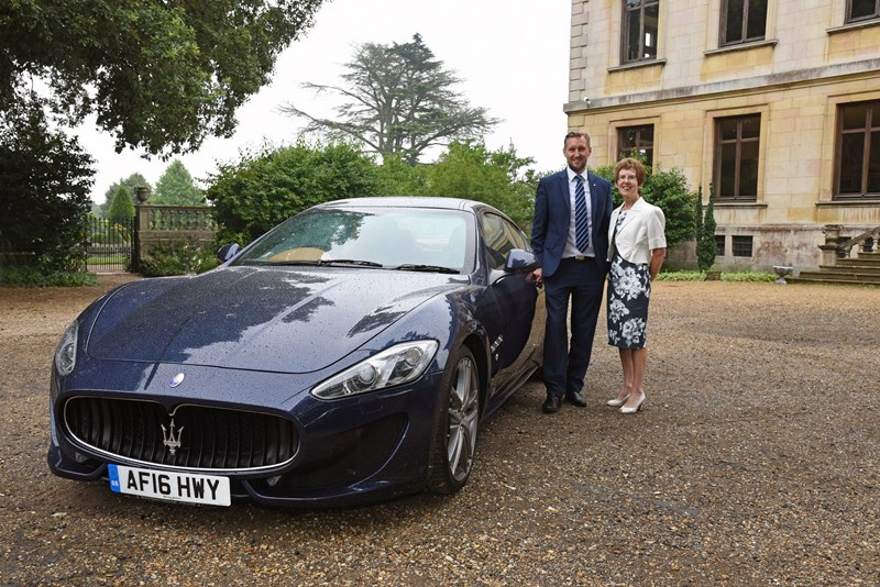Marshall Maserati Bonds With Charity In Movie Themed Plate