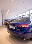 HR Owen Maserati Manchester 2016 - rear view of showroom stock