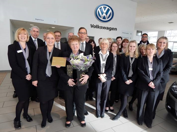 Jcb Sales Administrator Celebrates 30 Years At Volkswagen