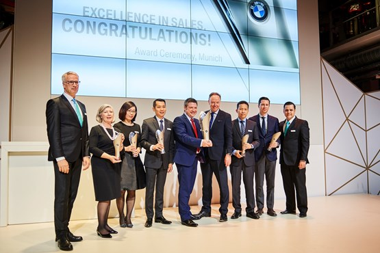 Lloyd Motor Group Blackpool BMW Award winners 2017