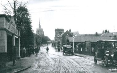 OG Barnard's dealership (left) in Stowmarket, now the site of Marriott Motor Group's centre