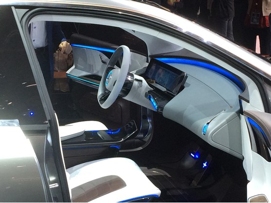 Mercedes EQ interior at Paris Motor Show 2016
