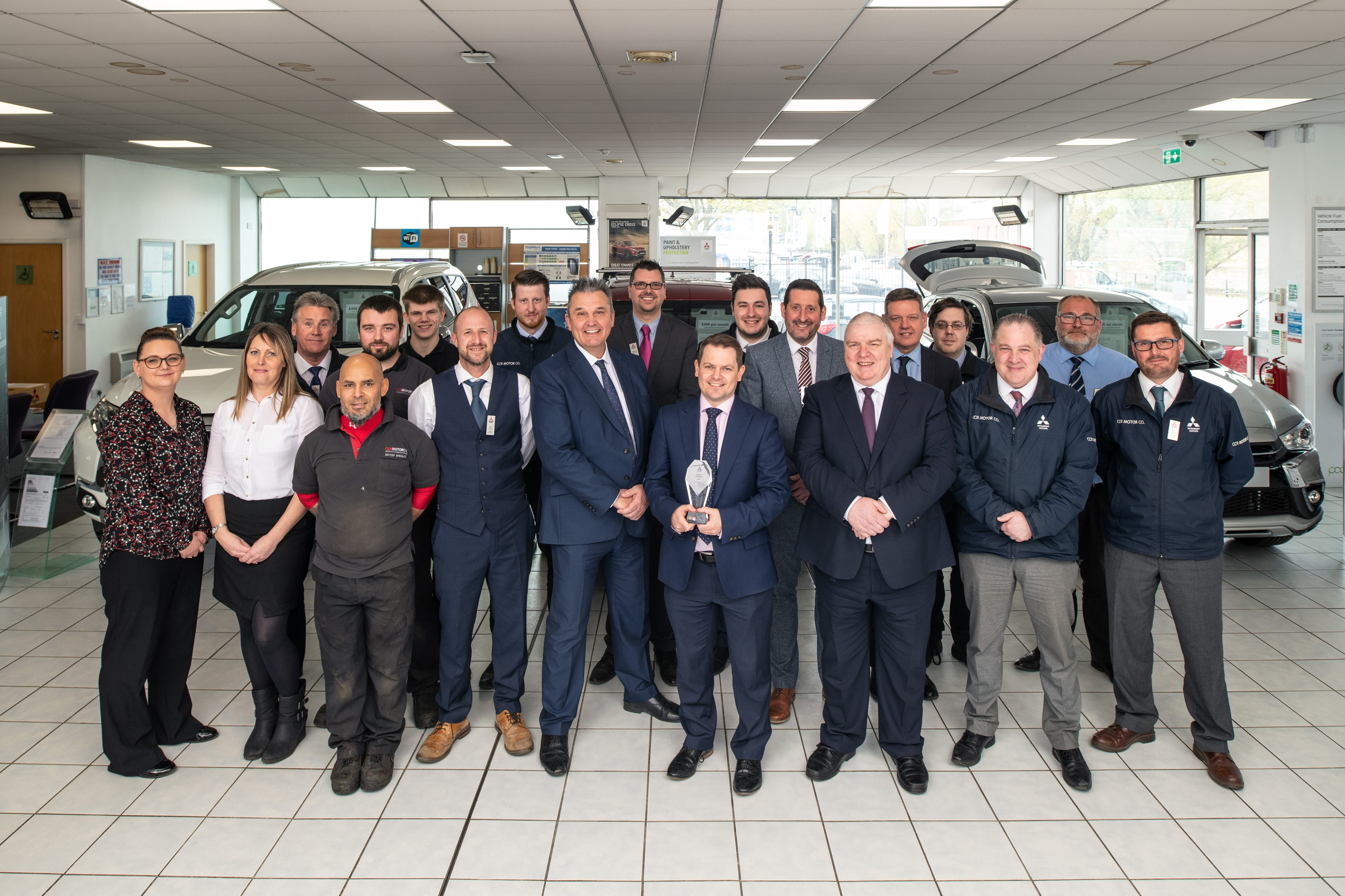 Ccr Motor Company Wins Mitsubishi Dealer Of The Year Award