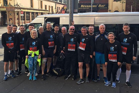 Roadside staff took part in the 2017 Belfast City Marathon Relay and raised almost £7,000 for the Northern Ireland Children To Lapland Trust