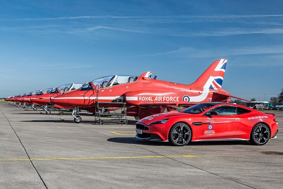 One of Jardine's 'Red 10'  Aston Martin Vanquish S models