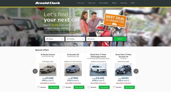 Arnold Clark website