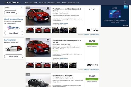 Auto Trader website