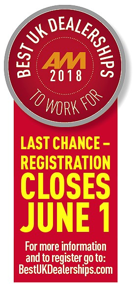 AM Best UK Dealerships to Work For - Last chance to register