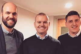 Dealer Trade founders Dean Miles, Wayne Ryder and Simon Smiddy