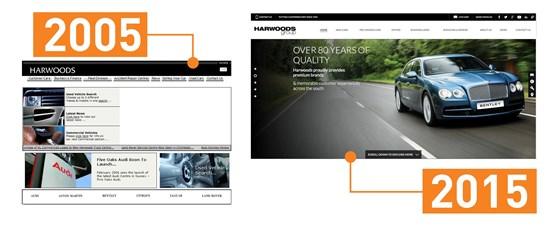 harwoods website comparison 2005 - 2015