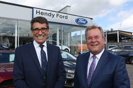 Hendy Group operations director Andy Stevenson (left) with Kevin Griffin, Ford's UK director of sales