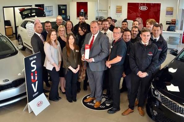 Darren Bradford and his team at Drayton Motors Kia  Boston, an AM Best UK Dealership to Work For