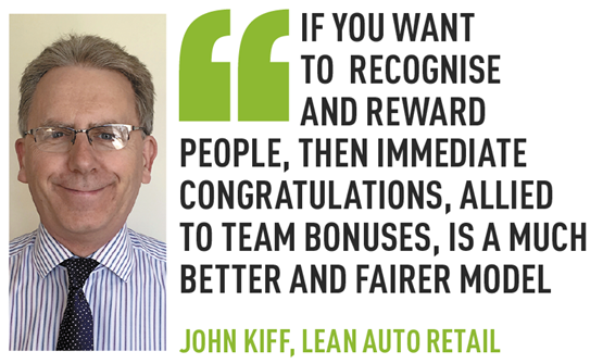 John Kiff Lean Auto retail emplyee recognition