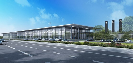 Lsh auto uk gains planning permission for 60m mercedes for Plaza mercedes benz service