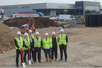 Building for the future: Marriott's directors on-site at the four-acre Audi Ipswich site