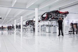 McLaren Automotive production line