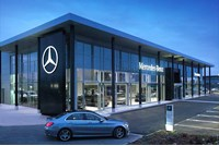 Mercedes-Benz showroom new corporate identity