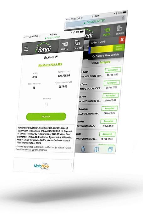 ivendi online finance screen grab