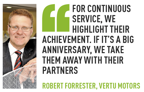 Robert Forrester Vertu employee recogntion