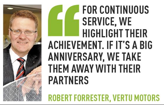 Robert Forrester Vertu employee recogntion