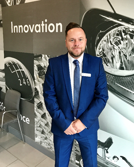 Ryan Shilton sales manager Crewe Volkswagen