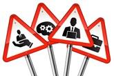 Finance hazards sign