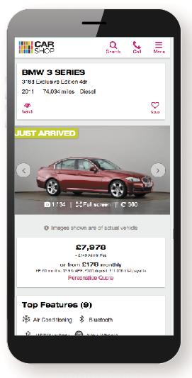 CarShop mobile website