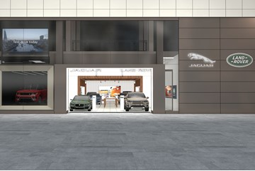 Artists' impression: Jaguar Land Rover's new Westfield Rockar store