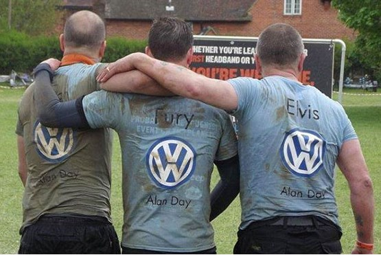 Alan Day Volkswagen sites compete  against each other in charity fund-raising,  including taking part in endurance events
