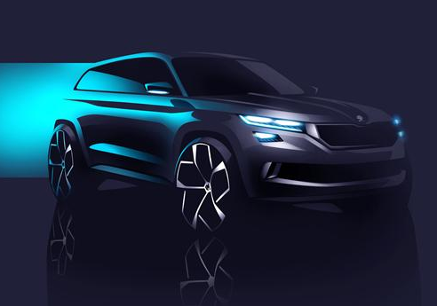 Skoda VisionS large SUV concept 2016