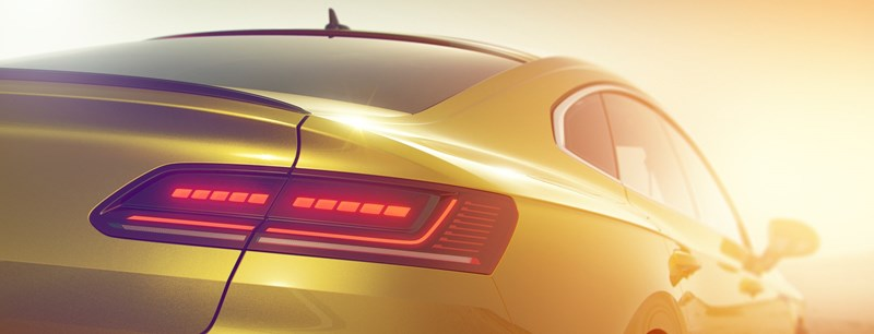 VW Arteon rear teaser 2017