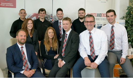 Staff at Wessex Garages' Nissan Cribbs dealership