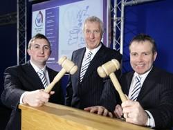 (L-R): Ben Esp, generalmManager of Wilsons Queensferry, Ian Wilson, managing director of Wilsons Auctions and Paul Mallon, general manager of Wilsons Telford.