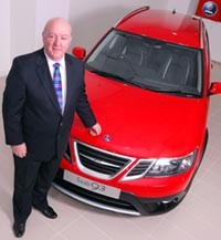 Ness Motors chairman, Scott Lauder with the Saab 9-3 2.0T