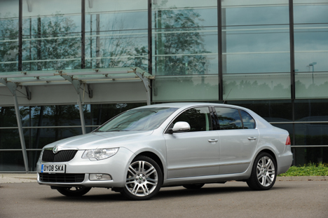 Skoda's Superb will be driven by trained police drivers when transporting government officials like Czech EU affairs minister Alexandr Vondra
