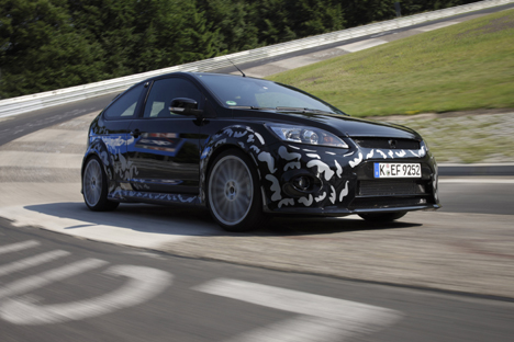 Ford Focus RS prototype on test at the Nürburgring
