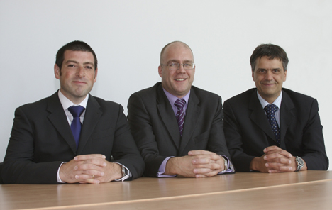 From left to right: Daniel Gregorius, Thomas Tollett and Andrew Squires