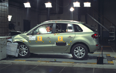 Renault's Koleos in the Euro NCAP crash test