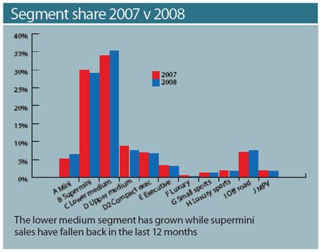 Segment Share 2007 v. 2008