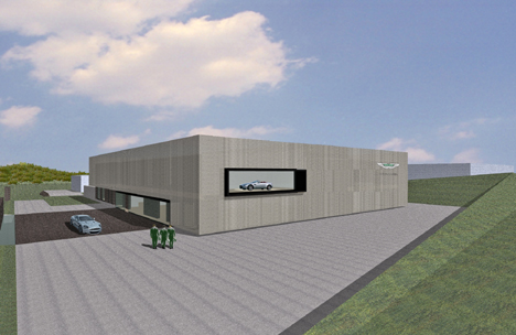 A CG rendering of the Aston Martin test centre at the Nurburgring.