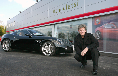 Ian Simpson with his 8C Competizione