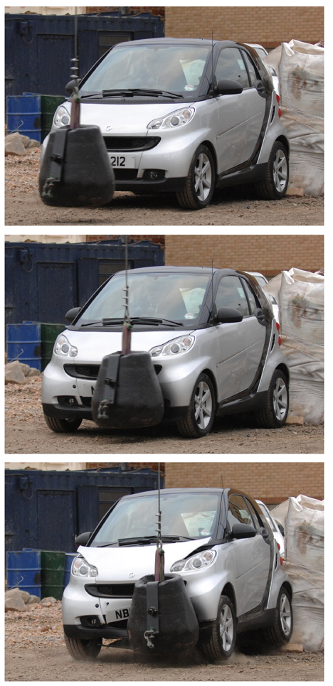 Smart Fortwo takes a wrecking ball to the face