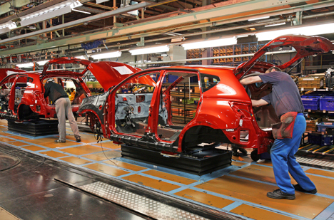 Nissan's Qashqai on the production line in Sunderland