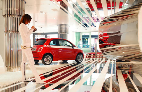 Fiat's flagship store in London's West End