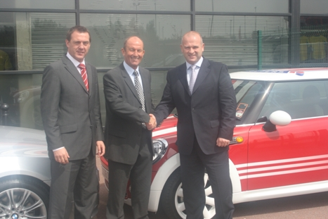 Left to right: Andy Billingham, head of sales at Stoke City, first team manager Tony Pulis and David Vickers, operations director at Knights.