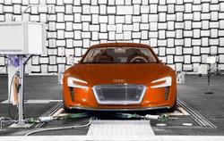 Audi e-tron undergoing a sound check