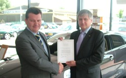 Mark Lavery, chief executive officer, and Jim Wright, head of regional development for BEN