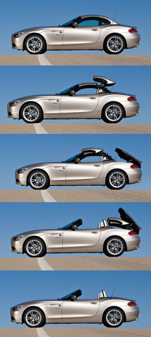 The new Z4 is the first BMW roadtster to have a retractable hard-top roof